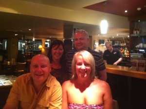 Nigel, Mandy & Paul - And Strapless me!