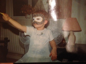 A very random photo of Luke dressed as a fairy!